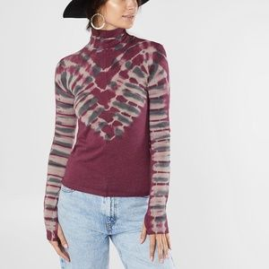 FP We The Free Psychedelic Turtleneck Pullover Top